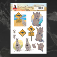 Couture Creations - Sunburnt Country - A4 Decoupage - Joey (CO727187)