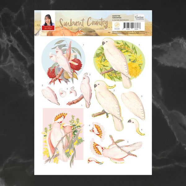 Couture Creations - Sunburnt Country - A4 Decoupage - Cockatoo (CO727192)