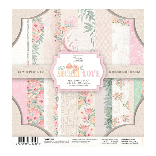 Couture Creations - My Secret Love 6.5 x 6.5in Paper Pad (CO727588)