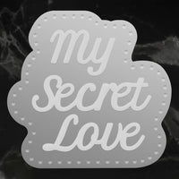 Couture Creations - My Secret Love - Mini Die - My Secret Love Sentiments (Co727613)