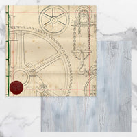 Couture Creations - Steampunk Dreams Collection - 12 x 12 Pattern Paper - Sheet 4 (CO727710)
