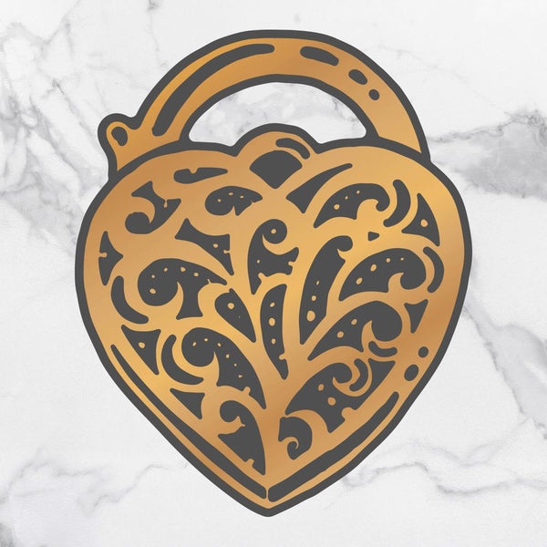 Couture Creations - Steampunk Dreams Collection - Cut & Create Die Heart Locket (CO727721)