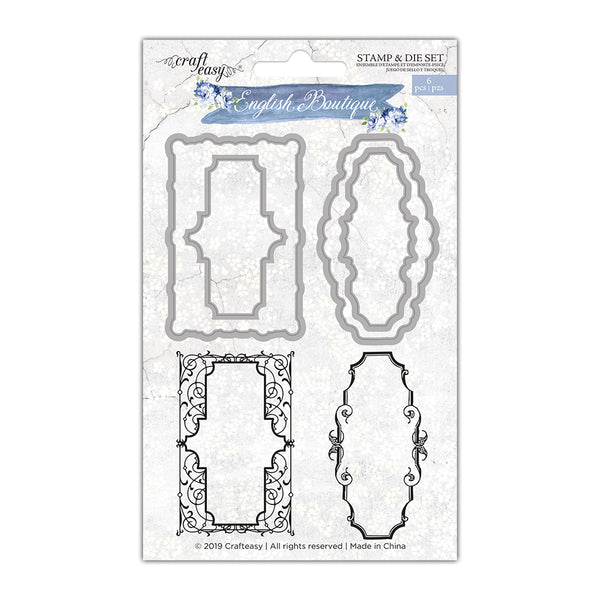 Craft Easy - English Boutique - Stamp & Die Set Tags (Cr000002)