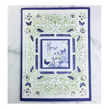 "Craft Easy - English Boutique - 4.25 x 5.5"" Cut & Embossing Folder  - Blossom Frame (Cr000008)"