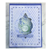 "Craft Easy - English Boutique - 4.25 x 5.5"" Cut & Embossing Folder  - Elegant Frame (Cr000009)"