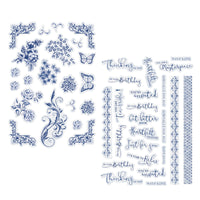 Craft Easy - English Boutique - Die Cut Topper Pack - Flower & Sentiments 44 pcs (Cr0000030)