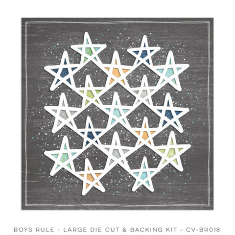 Cocoa Vanilla Studio - Boys Rule - Large Die Cut Sheet (CV-BR018)