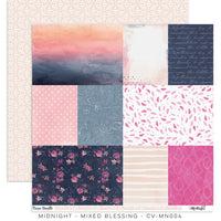 "Cocoa Vanilla Studio - 12"" X 12"" Scrapbook Paper- Midnight - Mixed Blessing (CV-MN004)"