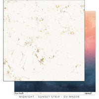 "Cocoa Vanilla Studio - 12"" X 12"" Scrapbook Paper- Midnight - Sunset Strip (CV-MN008)"