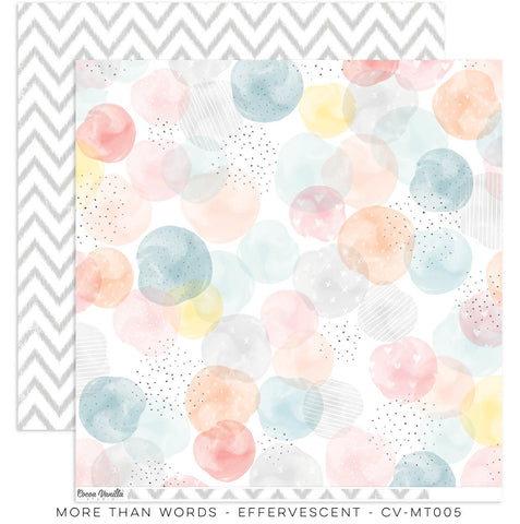 "Cocoa Vanilla Studio - More Than Words - 12"" x 12"" Designer Paper - Effervescent (CV-MT005)"