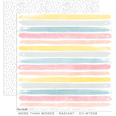 "Cocoa Vanilla Studio - More Than Words - 12"" x 12"" Designer Paper - Radiant (CV-MT008)"