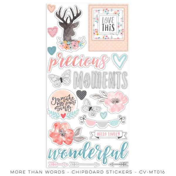 Cocoa Vanilla Studio - More Than Words - Chipboard Stickers (CV-MT016)