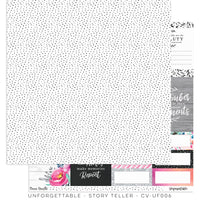 "Cocoa Vanilla Studio - 12"" X 12"" Scrapbook Paper- Unforgettable Collection -Story Teller - (CV-UF006)"