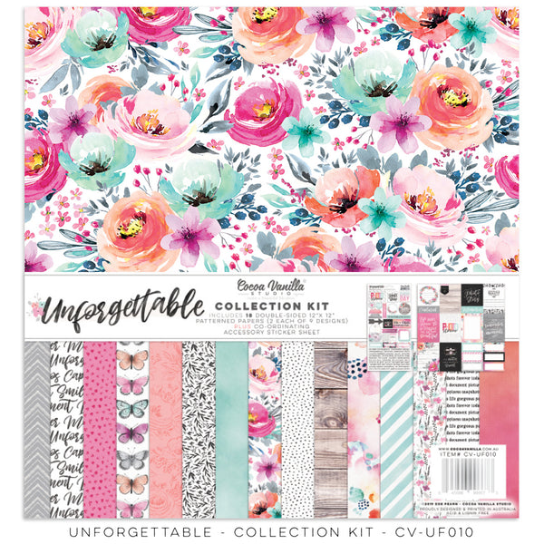 "Cocoa Vanilla Studio - 12"" X 12"" Unforgettable  Collection Kit (CV-UF010)"