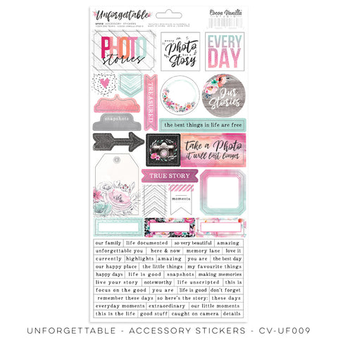 Cocoa Vanilla Studio - Unforgettable - Accessory Stickers (CV-UF012)