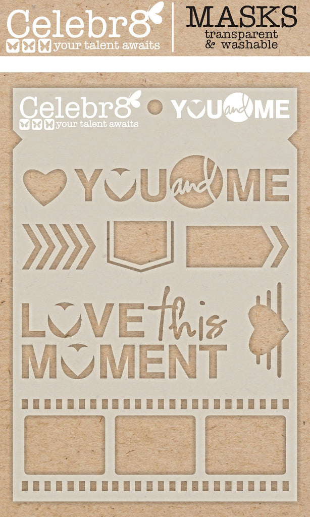 Celebr8 - Stencil Mask Template - Soul Mates - You & Me SM4625