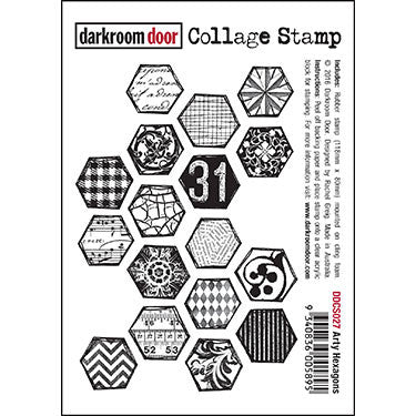 Darkroom door Collage Stamp Arty Hexagons (DDCS027)