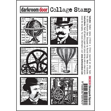 Darkroom door Collage Stamps Steampunk Squares (DDCS030)