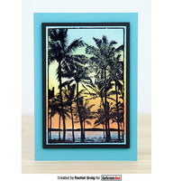 Darkroom door Photo Stamp Palm Trees (DDPS037)