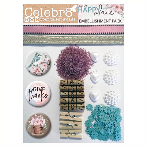 Celebr8 Our Happy Place Embellishment Pack EP2044