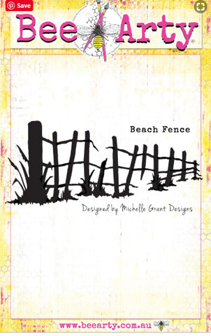 Bee Arty - Colour Blast - Life's A Beach - Metal Cutting Die - Beach Fence