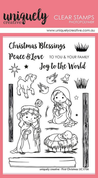 Uniquely Creative - Clear Stamp - First Christmas (UC1706)
