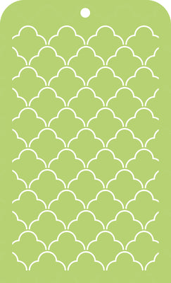 Kaisercraft - Memory Lane - Mini Template - Scallop Lattice (IT031)