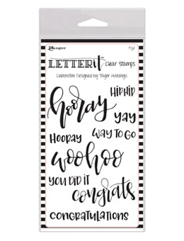 Ranger - Letter It - Clear Stamp - Celebration (LEC59301)