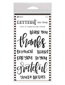 Ranger - Letter It - Clear Stamp - Thank you (LEC59325)