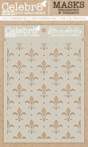 Celebr8 - Stencil Mask Template -  New Beginnings - Fleur De Lis SM46212