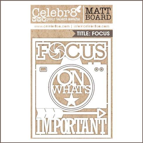 Celebr8 Ivory Chipboard - Focus On What Matters MB2517