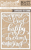 Celebr8 Ivory Chipboard - Beautiful Life Word Pack MB2610