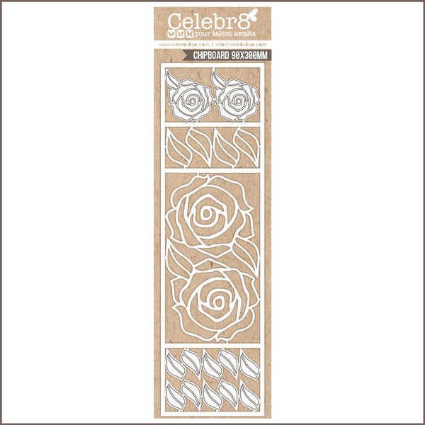 Celebr8 Ivory Chipboard - Rose Elements MB3614