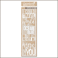 Celebr8 Ivory Chipboard - I Could Travel MB3619