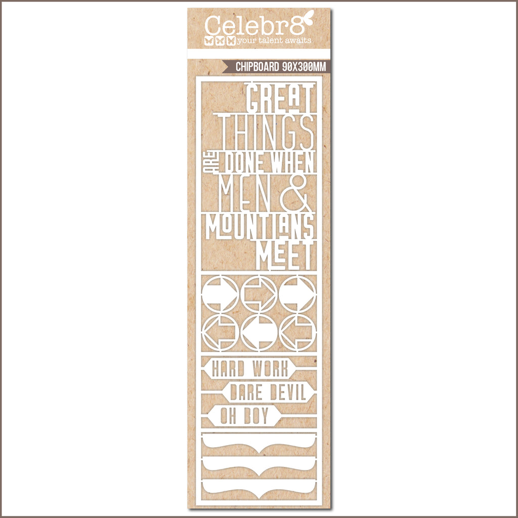 Celebr8 Ivory Chipboard - Working Man - Great Things MB3623