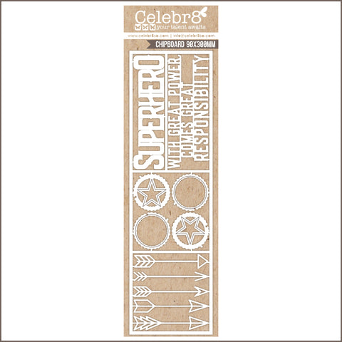 Celebr8 Ivory Chipboard - Super Hero MB3627