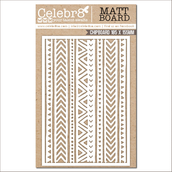 Celebr8 Savanna Sunset Border Ivory Chipboard MB4651