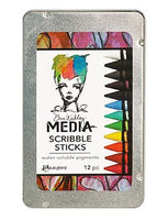Ranger - Dina Wakley - Media Scribble Sticks - 12Pc set (MDA54733)