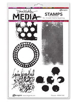 Dina Wakley - Media Stamps - Textures - (MDR41344)