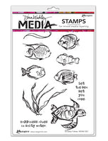 Dina Wakley - Media Stamps - Scribbly Fishies (MDR61007)