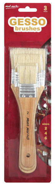Mont Marte Gesso Paint Brush Set 3pc (MPB0003)