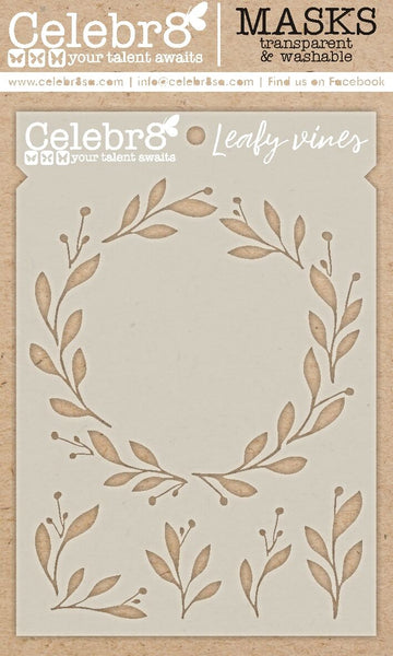Celebr8 - Stencil Mask Template - New Beginnings - Leafy Vines SM4622