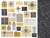 Kasiercraft - First Noel - 12x12 Scrapbook Paper - Wrapped (P2613)