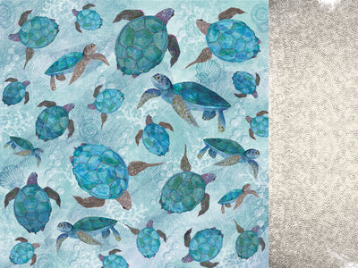 KAISERCRAFT - DEEP SEA - 12X12 SCRAPBOOK PAPER - Snorkle (P2663)