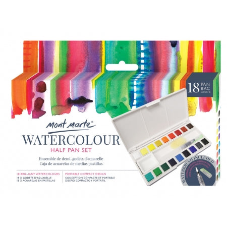 Mont Marte Premium Watercolour Half Pan Set 21pce (PMHS0035)