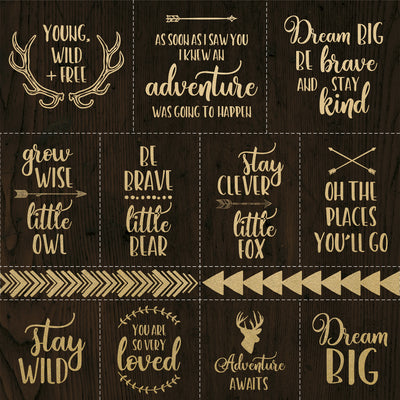"Kaisercraft - Hide & Seek - 12x12"" Speciality Paper - Foil Adventure (PS532)"