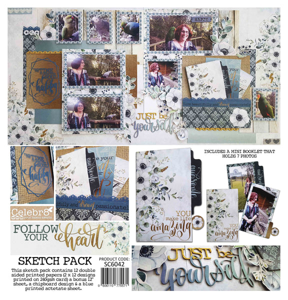 Celebr8 Sketch Pack - Follow Your Heart SC6042
