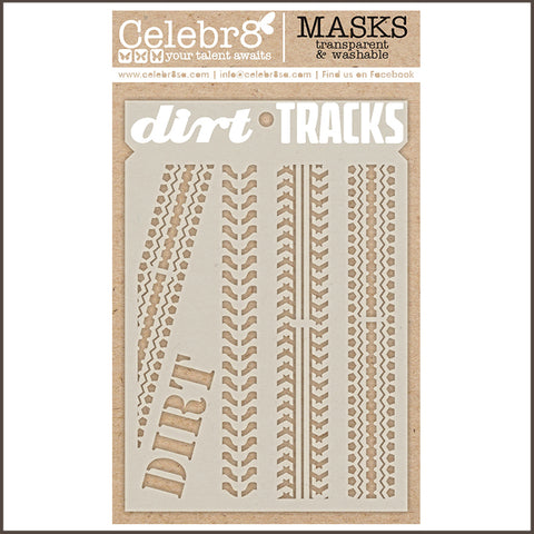 Celebr8 - Stencil Mask Template - Dirt Tracks SM4032