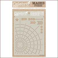 Celebr8 - Stencil Mask Template - You Are Here SM4517
