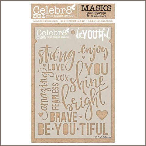 Celebr8 - Stencil Mask Template - beYOUtiful SM4520